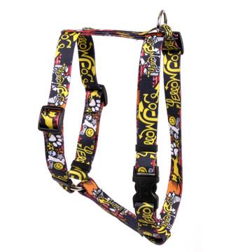 """Graffiti Dog Roman Style """"H"""" Dog Harness"""