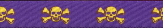 Purple and Gold Skulls Waist Walker