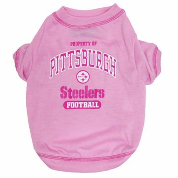 Pittsburgh Steelers NFL Football PINK Pet T-Shirt