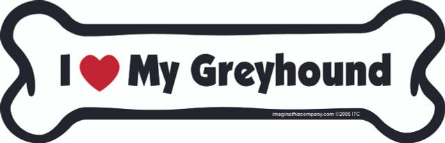 I Love My Greyhound Bone Magnet