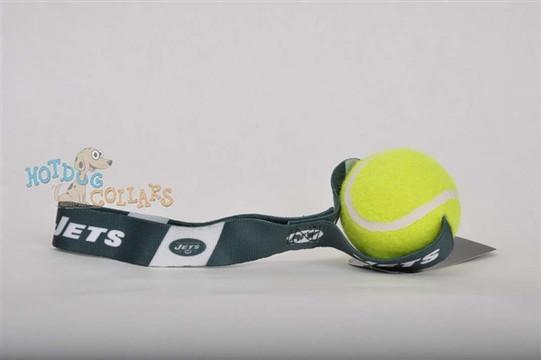 N.Y. Jets  Tennis Ball Tug Dog Toy