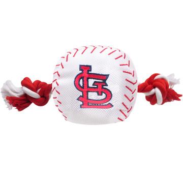 St. Louis Cardinals Nylon Rope Baseball Squeaker  Dog Toy