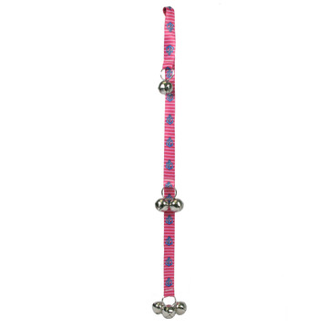 Anchors on Pink Stripes Ding Dog Bell Potty Training System