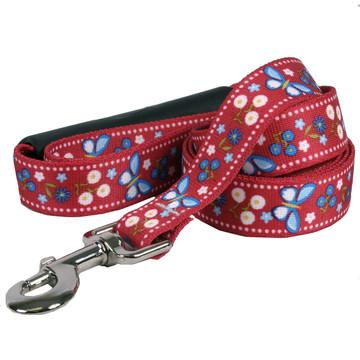 Festive Butterfly Red EZ-Grip Dog Leash