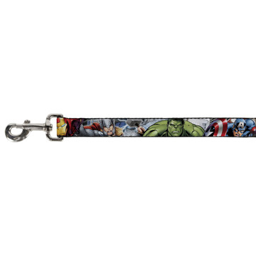 Marvel Avengers Assemble Superheroes Buckle Down Dog Leash