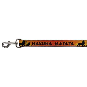 Lion King Hakuna Matata Simba Buckle Down Dog Leash