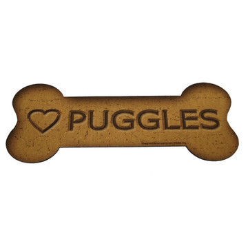 Love Puggles Bone Biscuits Magnet