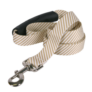 Southern Dawg Seersucker Brown Premium Dog Leash