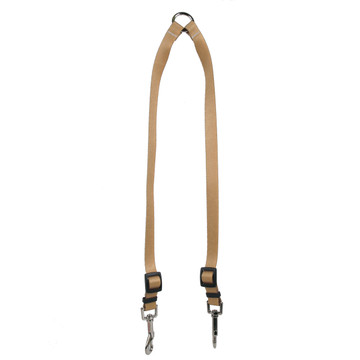 Tan Simple Solid Coupler Dog Leash