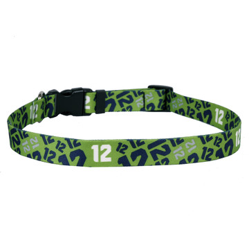12th Dog Green Dog Collar