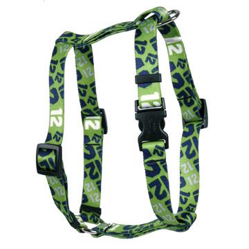 12th Dog Green Roman Style H Dog Harness