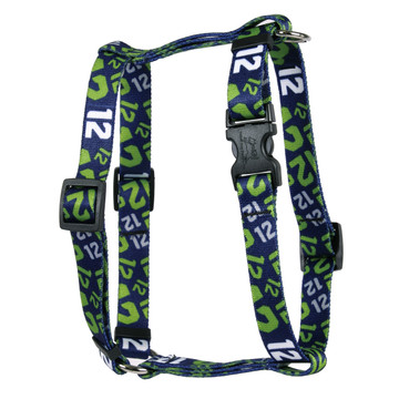 12th Dog Navy Blue Roman Style H Dog Harness