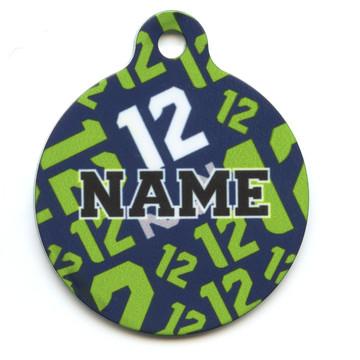 12th Dog Navy Blue HD Pet ID Tag