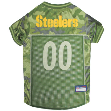 Pittsburgh Steelers NFL Football Camo Pet Jersey