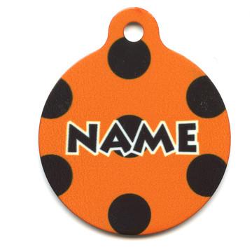 Halloween Polka Dot HD Pet ID Tag