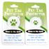 4 Leaf Clover HD Pet ID Tag