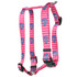 Anchors on Pink Stripes Roman Style H Dog Harness