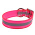 Pink REFLECTIVE 1.5In WIDE SunGlo All Weather Dog Collar
