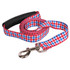 Southern Dawg Gingham Red and Blue Premium Dog Leash