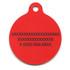 Bandana Red HD Pet ID Tag