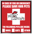 Rescue Our Pets Emergency Window Display