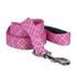 Pink and Purple Diagonal Plaid EZ-Grip Dog Leash