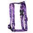 Camo Purple Roman Style H Dog Harness