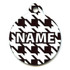 Houndstooth White and Black HD Pet ID Tag