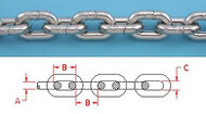 "1/4"" 316 STAINLESS STEEL BBB ANCHOR CHAIN DIN 766"