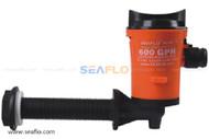 Seaflo 12v Angled 600gph Submersible Livewell Tank Aerator Bilge Pump