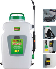 Seaflo Backpack Agricultural Electric Sprayer 4.2 Gallon tank and 12-volt recharge battery