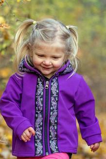BEACHBERRY JACKET / (Softshell)  / Razzleberry, / Salmon-Purple (trim)