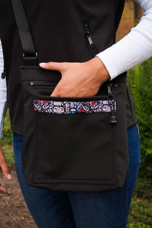 SHOULDER BAG / (Softshell) / Black,  / Totem-Brite (trim)