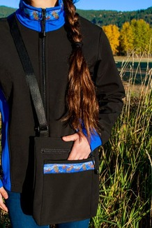 SHOULDER BAG / (Softshell) / Black,  / Sea Otters-Brite (trim)