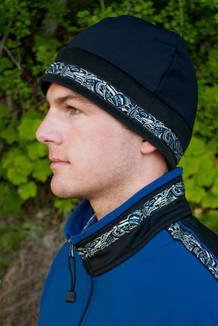 ARCTIC HAT / (Hybrid) / Solid Black,  / Native-Navy (trim)