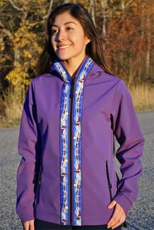 DENALI JACKET / (Softshell)  /  Lupine,  / Race Is On-Purple (trim)