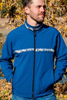 TUNDRA JACKET / (Softshell) / Bluestone, / Race Is On-Green (trim)