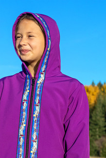 BEACHBERRY JACKET / (Softshell)  / Razzleberry, / Race Is On-Purple (trim)