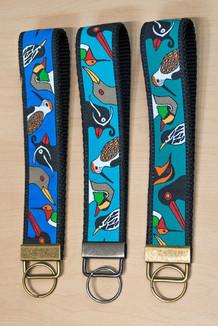 WRIST KEY HOLDER /  Alaska Chatter trim (3 color options)