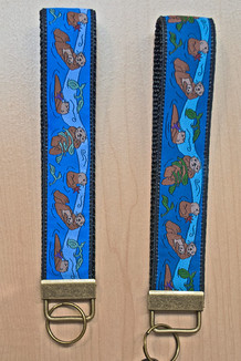 WRIST KEY HOLDER / Sea Otters trim (2 color options)