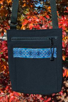 SHOULDER BAG / (Softshell) /  Black,  / Tres Belle-Blue (trim)