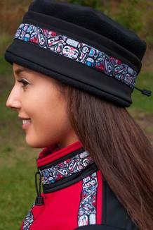 AURORA HAT / (Softshell) / Solid Black,  / Totem-Brite (trim)