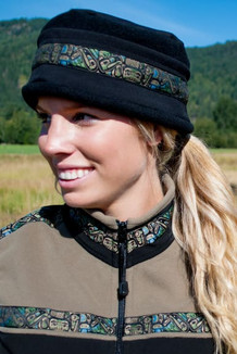 AURORA HAT / (Softshell) /  Solid Black,  / Totem-Tan (trim)