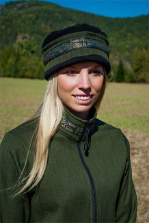 AURORA HAT / (Softshell) / Fjord, Black,  / Totem-Tan (trim)