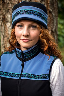AURORA HAT / (Softshell) / Twilight, Black,  / Velvet-Blue(trim)
