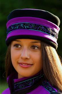 AURORA HAT / (Softshell) / Razzleberry, Black,  / Velvet-Lupine(trim)