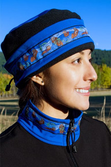 AURORA HAT / (Softshell) / Pacific Blue, Black,  / Sea Otter-Brite (trim)
