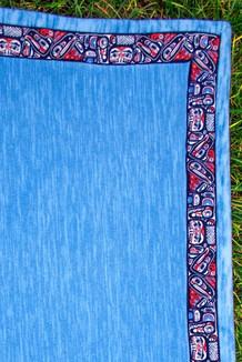 BLANKET - 5' x 5'  / (Double-Sided Thermal Fleece) / Waterfall, / Totem-Brite (trim)