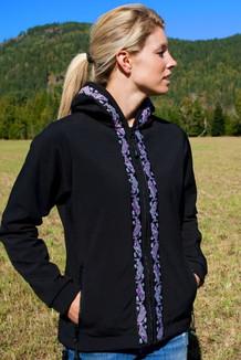 DENALI JACKET / (Softshell)  / Black,  / Salmon-Purple (trim)