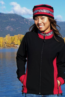 ARCTIC JACKET / (Softshell) /  Black, Ruby, / Totem-Brite (trim)